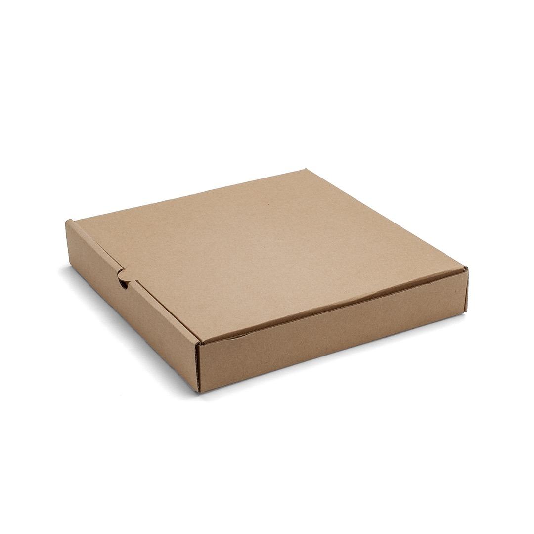 Caja para Pizza de Carton Marron 28x28x4.5