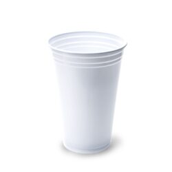 Vaso de PP blanco 330ml