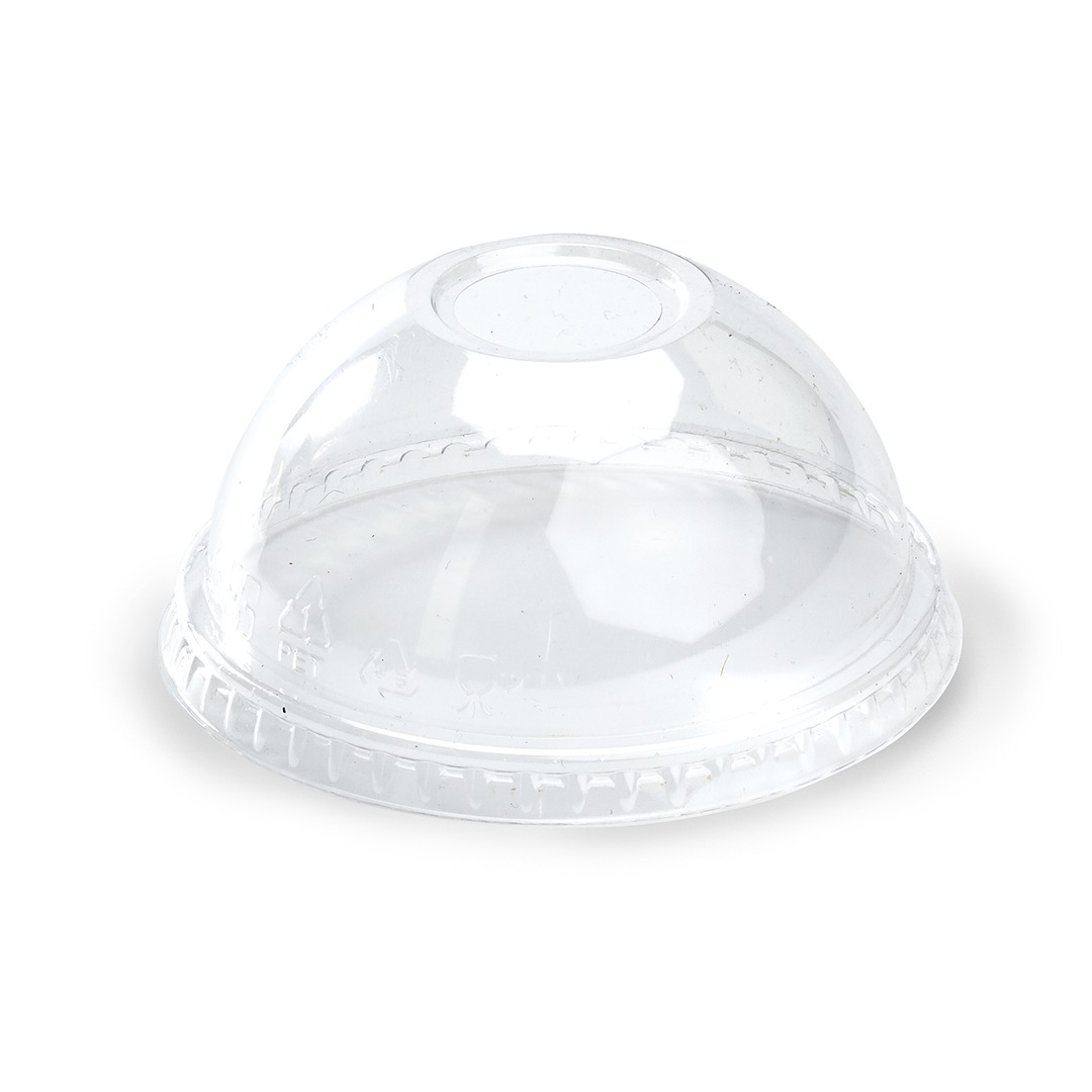 Tapa PET domo con perf. para vaso XVG-09