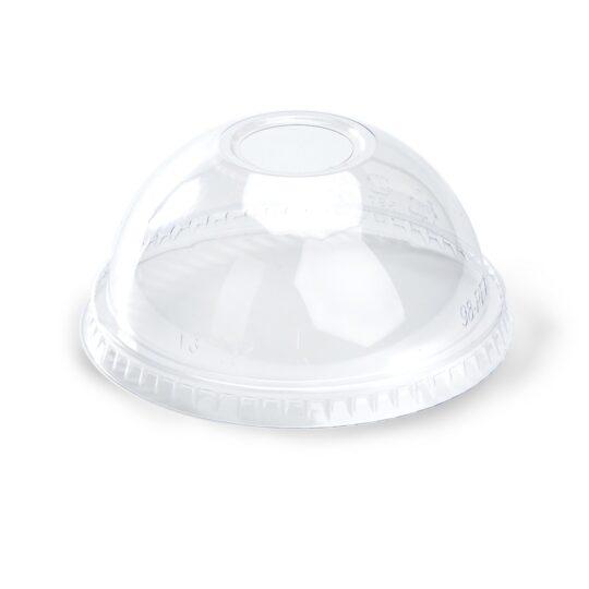 Tapa PET domo con agujero para vaso 14 y 20 Oz